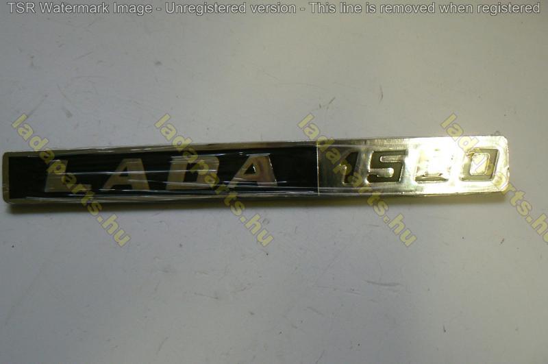 hátfal felirat /LADA 1500/