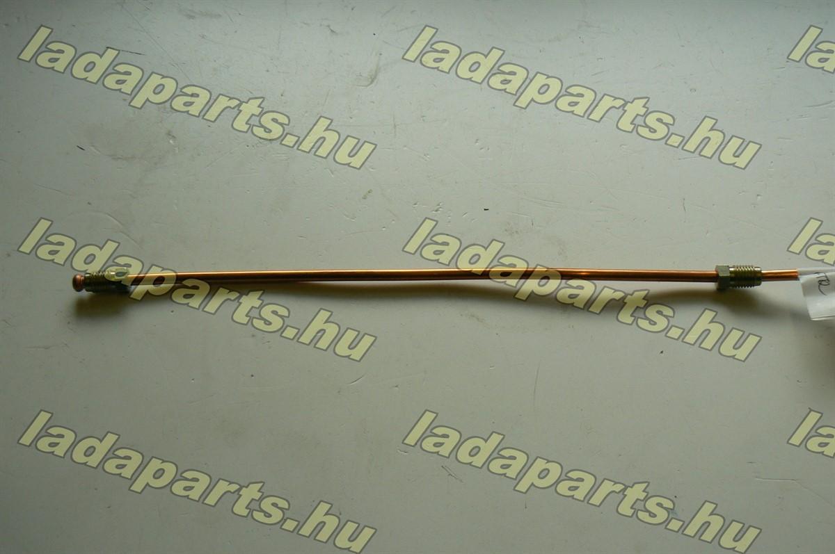 féknyereg áthidaló cső bal réz (223 mm)